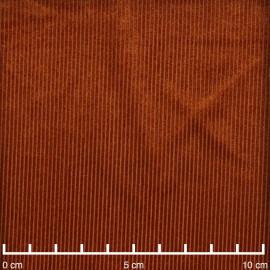 Tissu jersey velours côtelé rouille | Pretty Mercerie | Mercerie en ligne