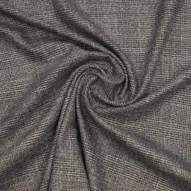 Tissu Prince de Galles noir, gris, blanc et doré   Pretty Mercerie   Mercerie en ligne