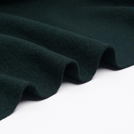 Tissu drap de laine bouillie vert foncé | Pretty Mercerie | Mercerie en ligne