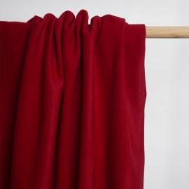 Tissu drap de laine sergé rouge tango | Pretty Mercerie | Mercerie en ligne
