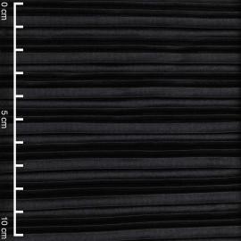 Tissu plissé noir | Pretty Mercerie | mercerie en ligne