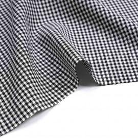 Tissu poly-viscose tissé vichy noir et blanc | Pretty Mercerie | mercerie en ligne