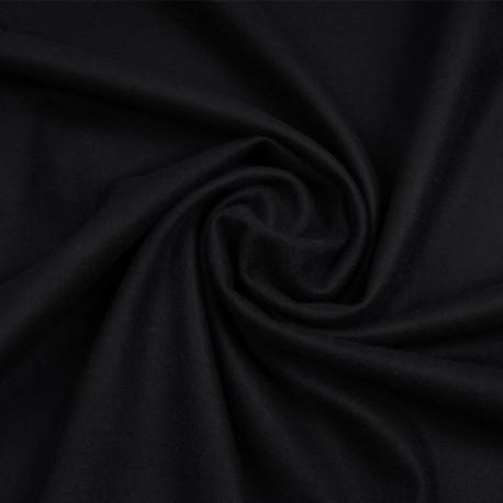 Tissu drap de laine et cachemire noir profond | Pretty Mercerie | mercerie en ligne