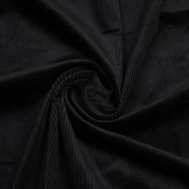 Tissu velours côtelé coton noir   Pretty Mercerie   mercerie en ligne