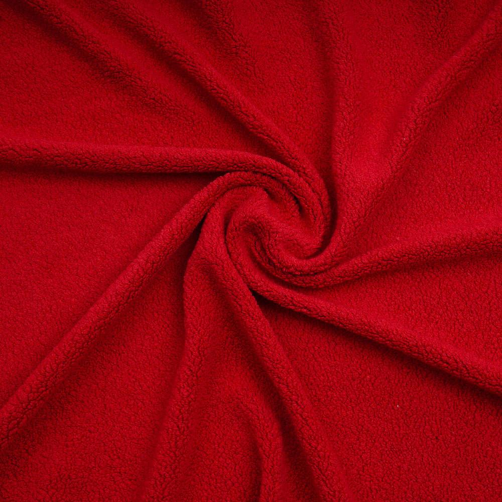 Tissu lainage bouclé effet mouton rouge poppy | Pretty Mercerie | mercerie en ligne