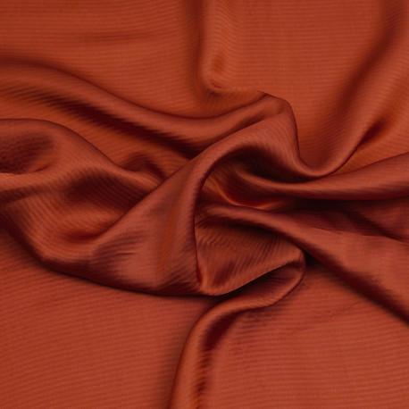 Tissu viscose jacquard chili à motif tissé rayé | pretty mercerie | mercerie en ligne