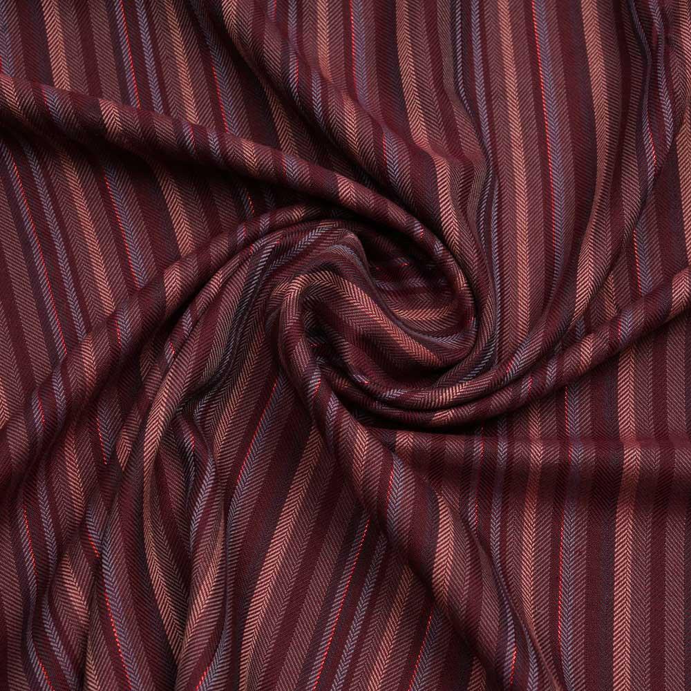 Tissu viscose jacquard cordovan à motif tissé chevron et fil lurex | pretty mercerie | mercerie en ligne
