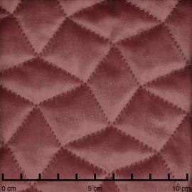 Tissu matelassé velours vieux rose à motif graphique | pretty mercerie | mercerie en ligne
