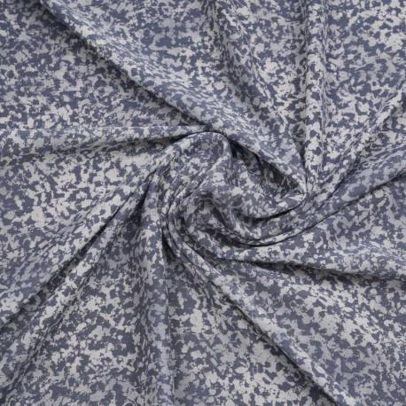 Tissu bleu gris à motif léopard blanc   Pretty Mercerie   mercerie en ligne