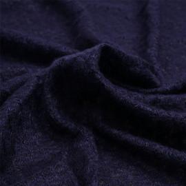 Tissu maille bleu marine à motif ajouré | Pretty Mercerie | mercerie en ligne