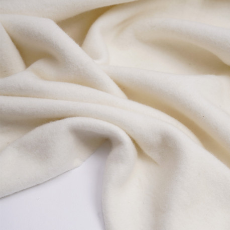 Tissu bambou de molleton écru oekotex | Pretty Mercerie | mercerie en ligne