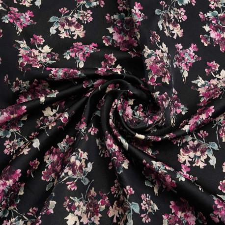 Tissu Jersey abstrait lady fashion blanc fuchsia pink robes tissu Model Pression