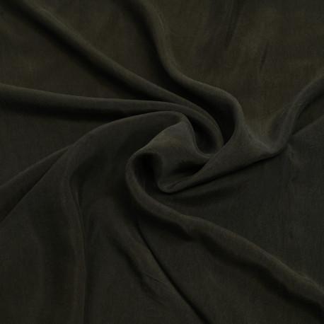 Tissu Cupro ( Bemberg ) dark olive | Pretty Mercerie | Mercerie en ligne