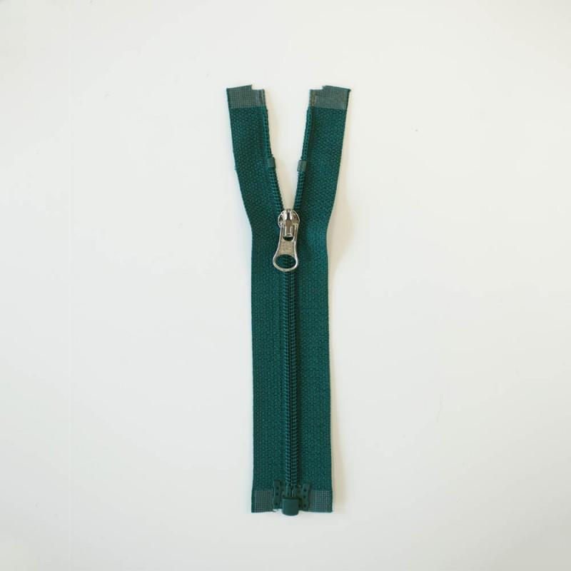 Fermeture éclair séparable vert canard
