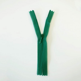 Fermeture éclair invisible non-séparable vert émeraude