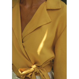 Chemisier cache-coeur Sayan - patron de couture - pretty patron - pretty mercerie - mercerie en ligne