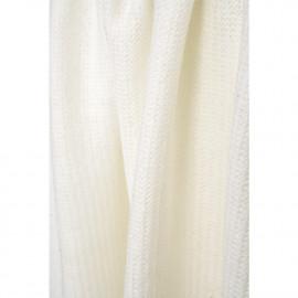 Tissu lainage maille tricoté blanc cassé au motif chevron |Pretty Mercerie | Mercerie en ligne