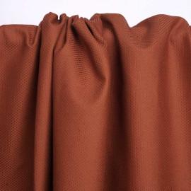 Tissu piqué de coton et viscose burnt Sienna | Pretty Mercerie | Mercerie en ligne