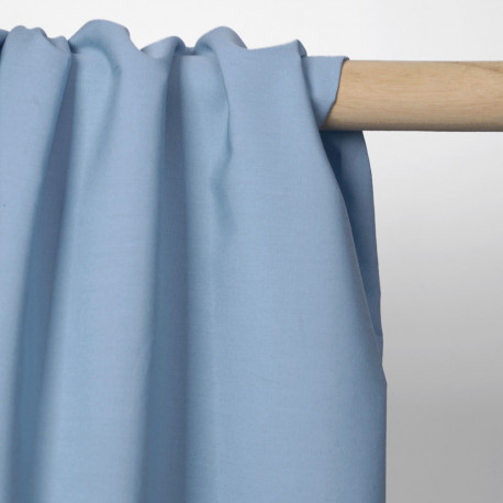 Tissu popeline de coton bleu pastel | Pretty Mercerie | mercerie en ligne