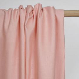 Tissu lin et viscose rose blush   Pretty Mercerie   mercerie en ligne