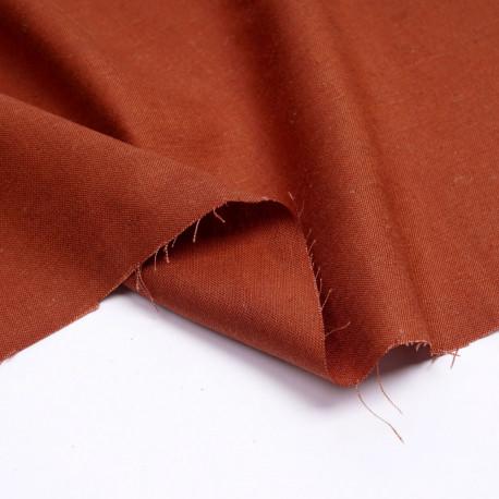 Tissu lin et viscose burnt ochre | Pretty Mercerie | mercerie en ligne