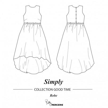 Patron Pdf De Couture Robe Simply Patron De Couture Pretty Mercerie