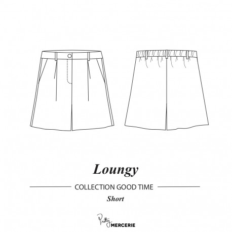 Short Loungy | patron de couture short Pretty Mercerie | mercerie ne ligne