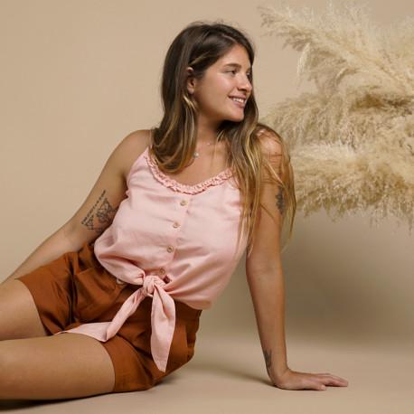 Top à bretelles Airy | patron de couture top à bretelles Pretty Mercerie | mercerie en ligne