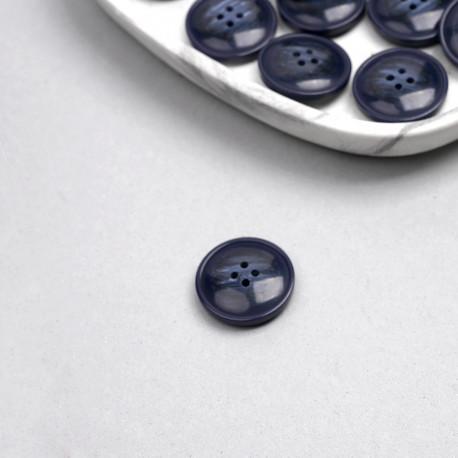 Bouton bleu marine marbré 27mm   Pretty Mercerie   Mercerie en ligne
