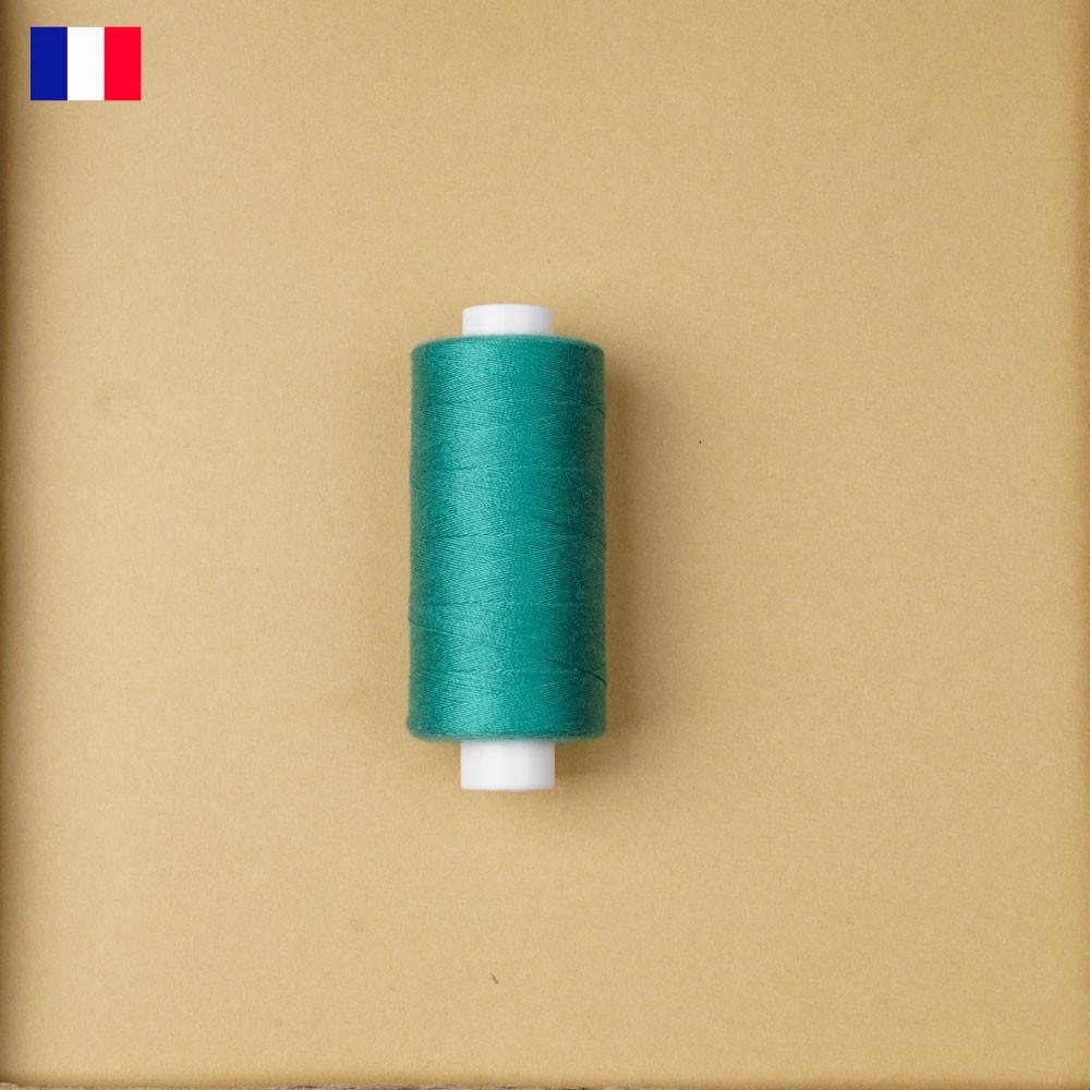Fil à coudre vert émeraude haute ténacité 500 m   fabrication française   Pretty Mercerie   Mercerie en ligne