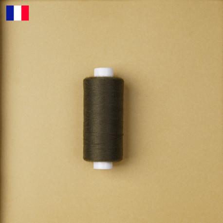 Fil à coudre vert kaki haute ténacité 500 m | fabrication française | pretty Mercerie | Mercerie en ligne
