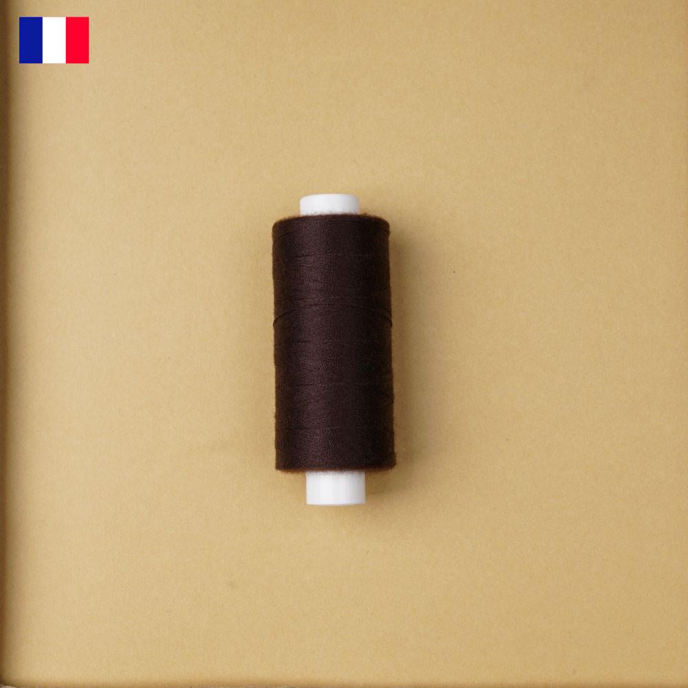 Fil à coudre marron foncé haute ténacité 500 m | fabrication française | pretty Mercerie | Mercerie en ligne