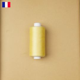 Fil à coudre jaune pastel ténacité 500 m | fabrication française | pretty Mercerie | Mercerie en ligne
