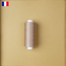 Fil à coudre beige sirocco ténacité 500 m   fabrication française   pretty Mercerie   Mercerie en ligne