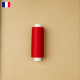 Fil à coudre rouge poppy ténacité 500 m | fabrication française | pretty Mercerie | Mercerie en ligne