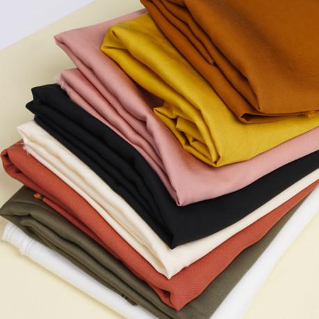 Tissu viscose Tencel et lin blanc | Pretty Mercerie | Mercerie en ligne