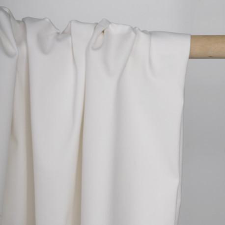 Tissu toile denim stretch blanc | Pretty Mercerie | Mercerie en ligne