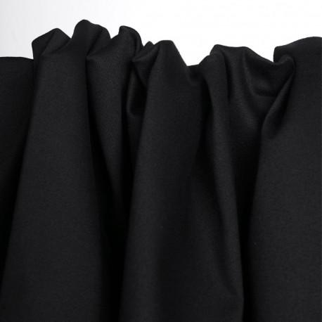 Tissu toile denim stretch noir | Pretty Mercerie | Mercerie en ligne
