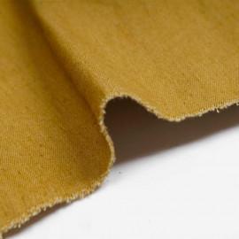 Tissu toile denim stretch honey mustard | pretty mercerie | mercerie en ligne