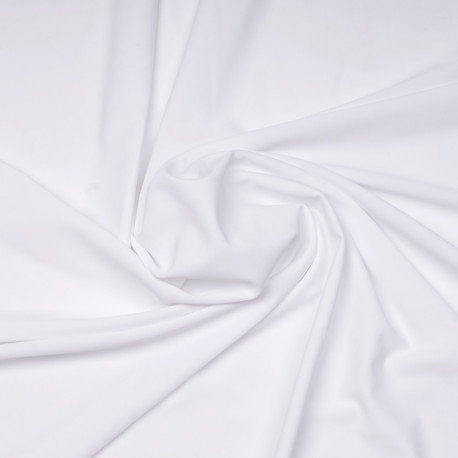 Tissu maillot de bain blanc | Pretty Mercerie | Mercerie en ligne