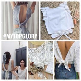 Top Glory PDF  Patron de couture top  noué dans le dos au format PDF Pretty Mercerie   mercerie en ligne