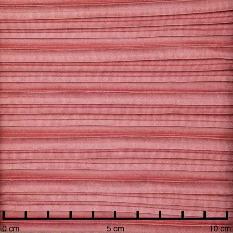 Tissu plissé rose terracotta   pretty mercerie   mercerie en ligne