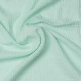 tissu double gaze de coton vert pastel | Pretty Mercerie | mercerie en ligne