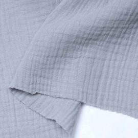 tissu double gaze de coton artic ice | pretty mercer | mercerie en ligne