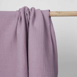 tissu double gaze de coton lavande | pretty mercerie | mercerie en ligne