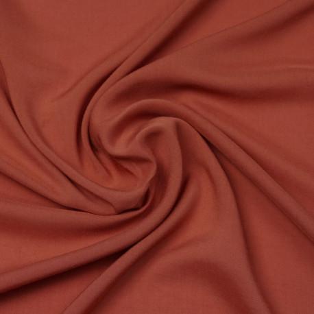 Tissu viscose uni burnt Sienna | Pretty Mercerie | mercerie en ligne