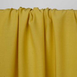 Tissu viscose uni jaune bambou | Pretty Mercerie | mercerie en ligne