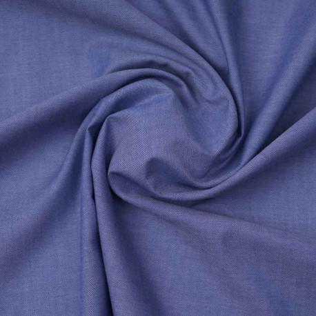 Tissu coton oxford blanc et bleu marine | Pretty Mercerie | mercerie en ligne