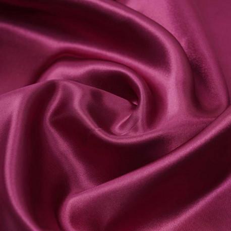 Tissu doublure satin polyester rose fuchsia | pretty mercerie | mercerie en ligne