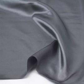 Tissu doublure satin polyester gris | pretty mercerie | mercerie en ligne